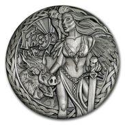 2017 Tuvalu 2 Ounces Silver Norwegian Goddesses: Freyja (High Relief) - Tuvalu