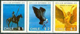 Chile 0472/474 ** MNH. 1976 - Chile