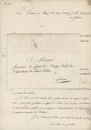 COLMAR 1817 Le Général En Chef Armée D'Autriche Sceau De Fermeture - Marcophilie (Lettres)