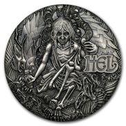 2017 Tuvalu 2 Ounces Silver Norwegian Goddesses: Hel (High Relief). - Tuvalu