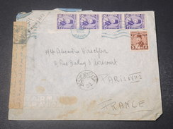 EGYPTE - Enveloppe Du Caire Pour Paris En 1948 Avec Contrôle Postal - L 10890 - Egypt