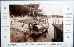 VIETNAM VUE DE  SAIGON  CARTE COMPAGNIE DES MESSAGERIES MARITIMES - Viêt-Nam