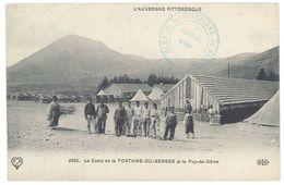 Cpa Le Camp De La Fontaine Du Berger Et Le Puy De Dôme - France