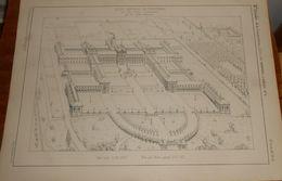 Plan De L'asile Impérial De Vincennes Pour 500 Ouvriers Convalescents. 1857. - Public Works