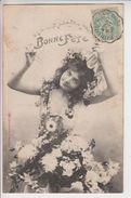 595 - BONNE FETE - Jeune Fille Avec Fleurs - BERGERET Et CIE NANCY - Illustratori & Fotografie