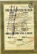 Italie: Chemin De Fer De NAPLES-NOLA-BAIANO De 1884 - Railway & Tramway