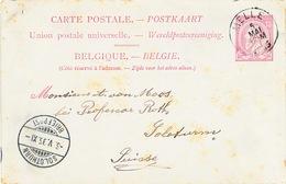 823/25 - Entier Postal Type TP 46 MELLE 1895 Vers SOLOTHURN Suisse - Entiers Postaux