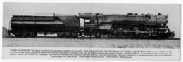 Locomotive Lord Baltimore Carte Double The World's Largest Locomotive 1910 état Superbe - Etats-Unis