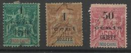 Droit De Greffe D'Indochine  N° 5,  6 Et 9 - Timbres Fiscaux De 1896 - Fiscal - Autres