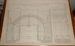 Plan De Cintres Et Construction Des Tunnels De Vincennes Et De Reuilly. Chemin De Fer De L'Est. Seine.1857. - Public Works