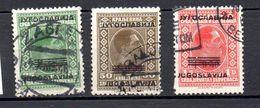 YUGOSLAVIA.  AÑO 1933 .  YVERT 252/254 (USED) - 1931-1941 Reino De Yugoslavia