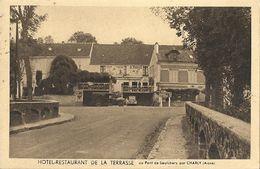 CPA Saulchery Hôtel Restaurant De La Terrasse Au Pont De Saulchery - Francia