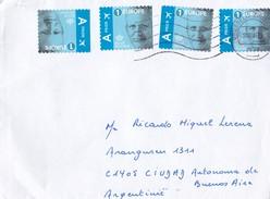 SOBRE ENVELOPPE CIRCULEE BELGIUM TO ARGENTINE CIRCA 2017-BLEUP - Used Stamps