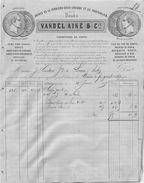 FACTURE  Fers Forgés Vandel Ainé & Cie à La Ferrière Sous Jougne Doubs 1867 2scans - 1800 – 1899