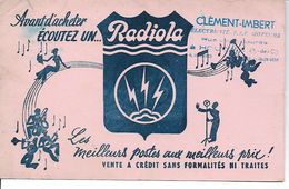 Buvard Radiola, Les Meilleurs Postes. (Clément - Imbert, Houdain). - Wash & Clean