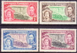 SOUTHERN RHODESIA 1937 SG 36-39 Compl.set MH Coronation - Rhodésie Du Sud (...-1964)