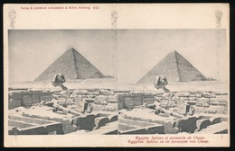 STEREO CARTE - SPHINX ET PYRAMIDE DE CHEOP - Egypt
