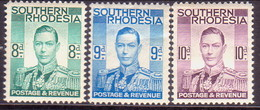 SOUTHERN RHODESIA 1937 SG 45,46,47 Part Set MH 3 Stamps Of 13 - Southern Rhodesia (...-1964)