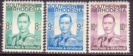 SOUTHERN RHODESIA 1937 SG 45,46,47 Part Set MH 3 Stamps Of 13 - Rhodésie Du Sud (...-1964)