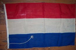 Antique Wool Flag Of Netherlands 58x95sm - Flags