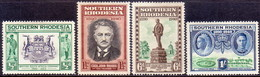 SOUTHERN RHODESIA 1940 SG 53//60 Part Set 4 Stamps Of 8 MH B.S.A.C. Golden Jubilee - Southern Rhodesia (...-1964)