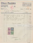 FATTURA Marca Da Bollo OTELLO PELLEGRINI Di Pordenone - Legno E Segheria 1940 - Italia