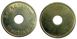 02284 GETTONE JETON TOKEN ERWACHSENE WERTMARKE HOLED - Allemagne