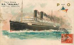 PAQUEBOT TWIN SCREW S.S MALWA - Paquebots