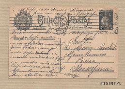 Portugal #15 Inteiro Postal Postal Stationery Circulado Lisboa /Messejana 1925 Ceres 25C - Enteros Postales