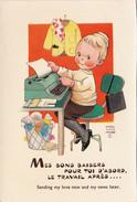 CPSM Secrétaire Machine à écrire Dactylographe Typist Typewriter Schreibkraft Schreibmaschine M.L. ATTWELL - Attwell, M. L.