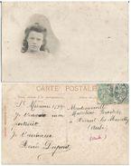 CPA Photo SAINT MESMIN (Aube - 10) - Portrait De Renée DUPONT Carte Envoyée à AVANT LES MARCILLY (Aube 10) - France