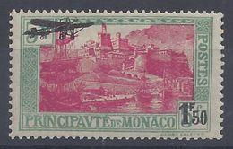 MONACO - 1933 - P. Aérienne N° 1 - Neuf Avec Traces De Charnière - X - TB - - Poste Aérienne
