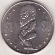COOK ISLANDS. 1 DOLLAR 1983 .STATUE OF TANGAORA. KM# 7 - Cook Islands