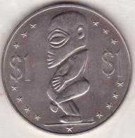 COOK ISLANDS. 1 DOLLAR 1972 .STATUE OF TANGAORA. KM# 7 - Cook