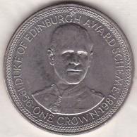 ISLE OF MAN.ONE CROWN 1981 .DUKE OF EDINBURGH - Regionale Währungen