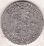 AFRIQUE Du SUD . 2 SHILLINGS 1940 .GEORGE VI .ARGENT - Südafrika