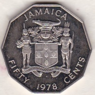 JAMAIQUE . 50 Cents 1978 . KM# 70 - Jamaique