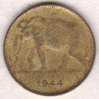 CONGO-BELGE.1 FRANC 1944 .(Éléphant) LEOPOLD III - 1934-1945: Leopold III