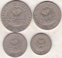 Haiti . 4 Pièces. 5 , 10 , 20 Et 50 Centimes  1975 - Haïti