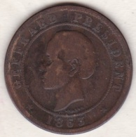 REPUBLIQUE D´HAITI . 20 CENTIMES 1863 . GEFFRARD PRESIDENT - Haïti