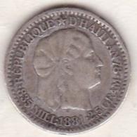 HAITI . 10 CENTIMES 1881 (PARIS) . ARGENT . KM# 44 - Haïti