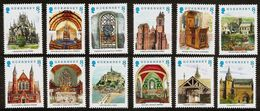 GUERNSEY 1988 - ECCLESIASTICAL LINKS / France And Britain - 12v Mi 436-447 MNH ** Cv€4,80 D426i-12v - Guernsey