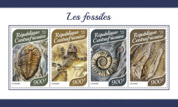 CENTRAL AFRICA 2017 MNH** Fossils Fossilien Fossiles M/S - OFFICIAL ISSUE - DH1753 - Fossili