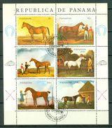 Panama 1986 Mi 1118/23,  (o) Horses / Chevaux / Paarden (2 Scans) - Panama