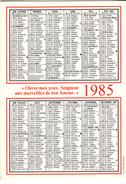 Calendrier 1985  De LA PROCURE MISSIONNAIRE DE L'ASSOMPTION - Calendars