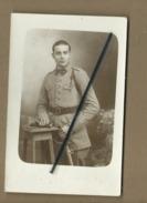 Carte Photo - Militaire , Soldat ,    Photographie  P.Martignon , Paris , Charenton - Uniforms