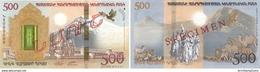 ARMENIA 2017 Noah's Ark Collector Banknote Hybrid 500 Dram In Original Packing Mount Ararat Booklet - Armenië