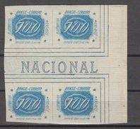 Brazil Brasil Mi# 411 ** + * MNH + Mint Block Of 4 INCLINADOS 1934 With TAB - Brazilië