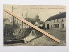 ENVIRONS DE GENAPPE»Eglise Et MOULIN De LOUPOIGNE»Panorama,animée ,1910/1920(Édit Vve DELPIERRE-DECORTE  ) M ,Marcovici - Genappe
