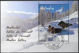 2013 Schweiz  Mi. Bl 54 FD-used   Mattertal Im Winter; Matterhorn - Blocks & Kleinbögen
